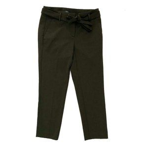 LOFT Women's Dark Army Green Tapered Dress Pants 0